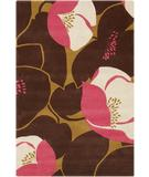 RugStudio presents Chandra Amy Butler AMY13215 Dark Brown Hand-Tufted, Good Quality Area Rug