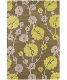 RugStudio presents Chandra Amy Butler Amy13219 Brown/Taupe/Green Hand-Tufted, Good Quality Area Rug