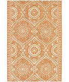 RugStudio presents Chandra Amy Butler Amy13225 Orange/Cream Hand-Tufted, Good Quality Area Rug