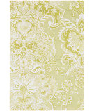 RugStudio presents Chandra Amy Butler Amy13227 Green/Cream Hand-Tufted, Good Quality Area Rug