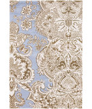 RugStudio presents Chandra Amy Butler Amy13228 Blue/Brown/White Hand-Tufted, Good Quality Area Rug
