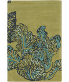 RugStudio presents Chandra Aschera Asc6407 Green-Yellow Hand-Tufted, Good Quality Area Rug