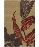 RugStudio presents Chandra Aschera ASC6412 Tan Hand-Tufted, Good Quality Area Rug