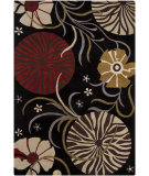 RugStudio presents Chandra Bajrang BAJ-8011 Black Hand-Tufted, Good Quality Area Rug
