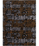 RugStudio presents Chandra Bajrang BAJ-8024 Black Hand-Tufted, Good Quality Area Rug