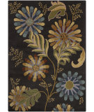 RugStudio presents Chandra Bajrang BAJ-8027 Black Hand-Tufted, Good Quality Area Rug