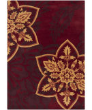 RugStudio presents Chandra Bajrang BAJ-8028 Burgundy Hand-Tufted, Good Quality Area Rug