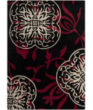 RugStudio presents Chandra Bajrang BAJ-8031 Black Hand-Tufted, Good Quality Area Rug