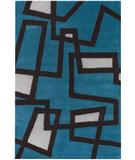 RugStudio presents Chandra Bense Garza BEN3005 Blue Hand-Tufted, Good Quality Area Rug