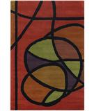 RugStudio presents Chandra Bense Garza BEN3013 Red/Multi Hand-Tufted, Good Quality Area Rug