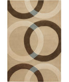 RugStudio presents Chandra Bense Garza Ben3022 Tan Hand-Tufted, Good Quality Area Rug