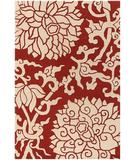 RugStudio presents Chandra Thomas Paul - Tufted Pile Blossom Persimmon BLPC Hand-Tufted, Good Quality Area Rug