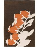 RugStudio presents Chandra Thomas Paul - Tufted Pile Buds Brown-Orange BBO Hand-Tufted, Good Quality Area Rug