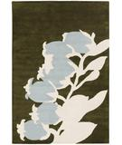 RugStudio presents Chandra Thomas Paul - Tufted Pile Buds Green-Dove BGD Hand-Tufted, Good Quality Area Rug