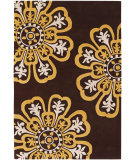 RugStudio presents Chandra Counterfeit Cou18200 Dark Brown Hand-Tufted, Good Quality Area Rug