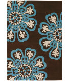RugStudio presents Chandra Counterfeit Cou18201 Dark Brown Hand-Tufted, Good Quality Area Rug