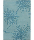 RugStudio presents Chandra Counterfeit Cou18215 Teal Hand-Tufted, Good Quality Area Rug