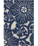 RugStudio presents Chandra Counterfeit Cou18216 Navy Hand-Tufted, Good Quality Area Rug