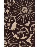 RugStudio presents Chandra Counterfeit Cou18218 Dark Brown Hand-Tufted, Good Quality Area Rug