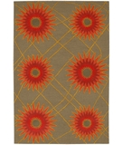 RugStudio presents Chandra Daisa DAI12 Grey Green Hand-Tufted, Good Quality Area Rug