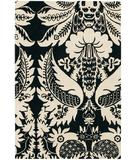 RugStudio presents Chandra Thomas Paul - Tufted Pile Damask Ebony-Cream DAEBC Hand-Tufted, Good Quality Area Rug