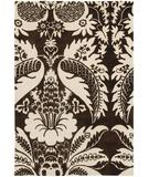 RugStudio presents Chandra Thomas Paul - Tufted Pile Damask Brown-Cream DABRC Hand-Tufted, Good Quality Area Rug