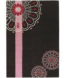 RugStudio presents Chandra Dharma DHA7523 Dark Brown Hand-Tufted, Good Quality Area Rug