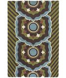 RugStudio presents Chandra Dharma DHA7534 Green Hand-Tufted, Good Quality Area Rug