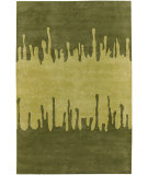 RugStudio presents Chandra Faro FAR6204 Green Hand-Tufted, Good Quality Area Rug