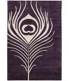 RugStudio presents Chandra Thomas Paul - Tufted Pile Feather Plum-Cream FEPC Hand-Tufted, Good Quality Area Rug