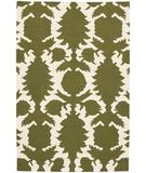 RugStudio presents Chandra Thomas Paul - Flatweave Dhurrie Flock Green-Cream FDGC Flat-Woven Area Rug