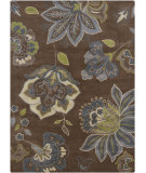 RugStudio presents Chandra Gagan GAG-39504 Chocolate Hand-Tufted, Good Quality Area Rug
