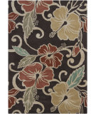 RugStudio presents Chandra Gagan GAG-39509 Dark Brown Hand-Tufted, Good Quality Area Rug