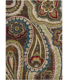 RugStudio presents Chandra Gagan GAG-39520 Dark Brown/Multi Hand-Tufted, Good Quality Area Rug