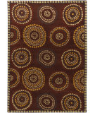 RugStudio presents Chandra Gagan GAG-39525 Chocolate Hand-Tufted, Good Quality Area Rug