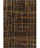 RugStudio presents Chandra Gagan GAG-39544 Dark Brown Hand-Tufted, Good Quality Area Rug