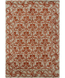 RugStudio presents Chandra Gagan GAG-39560 Orange Hand-Tufted, Good Quality Area Rug