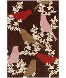 RugStudio presents Chandra Thomas Paul - Tufted Pile Goldfinch Chocolate-Taupe-Persimmon GCTP Hand-Tufted, Good Quality Area Rug