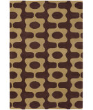 RugStudio presents Chandra Inhabit Inh21600 Dark Brown Hand-Tufted, Good Quality Area Rug