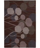 RugStudio presents Chandra Inhabit Inh21602 Dark Brown Hand-Tufted, Good Quality Area Rug
