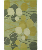 RugStudio presents Chandra Inhabit Inh21603 Sea Green Hand-Tufted, Good Quality Area Rug