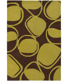 RugStudio presents Chandra Inhabit Inh21604 Dark Brown Hand-Tufted, Good Quality Area Rug