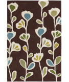 RugStudio presents Chandra Inhabit Inh21608 Dark Brown Hand-Tufted, Good Quality Area Rug
