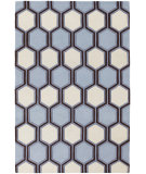 RugStudio presents Chandra Inhabit Inh21611 Light Blue Hand-Tufted, Good Quality Area Rug