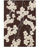 RugStudio presents Chandra Inhabit Inh21612 Dark Brown Hand-Tufted, Good Quality Area Rug
