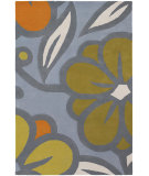 RugStudio presents Chandra Inhabit Inh21624 Grey-blue Hand-Tufted, Good Quality Area Rug