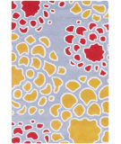 RugStudio presents Chandra Inhabit Inh21628 Grey/Gold/Red/Ivory Hand-Tufted, Good Quality Area Rug