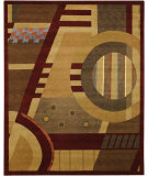 RugStudio presents Chandra Int INT-13433 Burgundy Hand-Tufted, Good Quality Area Rug