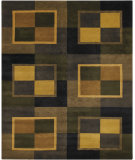 RugStudio presents Chandra Int INT-13435 Green Hand-Tufted, Good Quality Area Rug