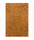 RugStudio presents Chandra Int INT-13438 Orange Hand-Tufted, Good Quality Area Rug